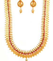 Buy Radiant Red Mahalaxmi Coin Necklace Set necklace-set online