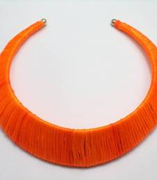 Buy orange choker Necklace online