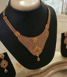 Buy Georgeous high gold plated  necklace set curated-jewelry online