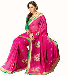 Buy Vishal Pink Art Silk Saree party-wear-saree online
