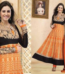 Buy Hypnotex Orange Georgette Semi Stitch Dress Avtar 105 semi-stitched-salwar-suit online