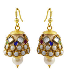 Buy Designer jaipuri jhumki earrings jhumka online