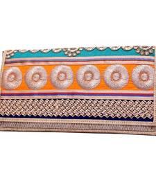 Buy Craftstages Designer Jute and Resham Work Clutch Bag sling-bag online