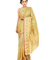 Buy gold woven tissue saree With Blouse tissue-saree online
