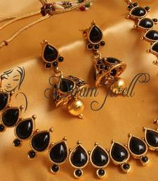 Buy GORGEOUS ANTIQUE BLACK NECKLACE SET necklace-set online
