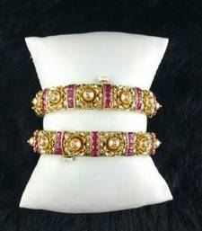 Buy Fine ruby pearl bangles gifts-for-her online