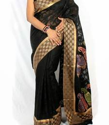 Buy Designer supernet cotton fancy border pallu saree cotton-saree online