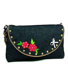 Buy Denim Embellished Flower Sling clutch online, Buy clutches online