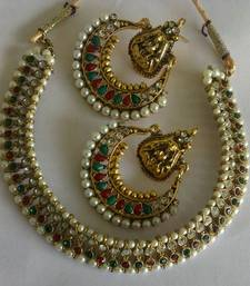 Buy Designer Ram Leela Earings with Traditional Necklace hoop online