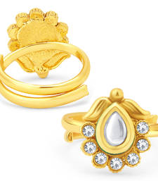 Buy Appealing Gold Plated Kundan ToeRing For Women toe-ring online
