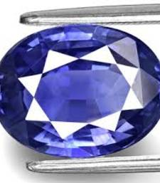 Buy 6.25 carat natural blue sapphire (neelam) gemstone with lab certified loose-gemstone online