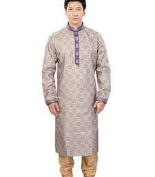 Buy blue jacquard plain traditional kurta kurta-pajama online