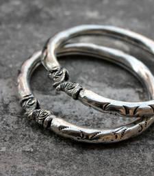 Buy German Silver Haathi Motif Bangles bangles-and-bracelet online