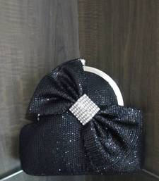 Buy Regalia Couture Label Power Of Black Bow Clutch clutch online
