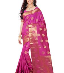 Buy Rani woven tussar_silk saree With Blouse tussar-silk-saree online