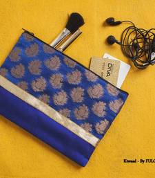 Buy Silk Pouch - Blue  potli-bag online