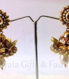 Ethnic Pearl Dropping Jhumka shop online