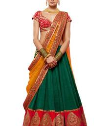 Buy Green embroidered benglori silk  lehenga choli bridal-lehenga online