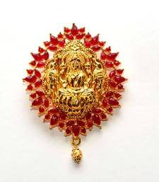 Buy Anvi's lakshmi pendent (temple jewellery with rubies Pendant online