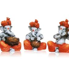 Buy Set of 3 Instrumental Ganesha Idols ganesh-chaturthi-gift online