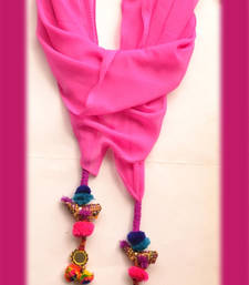 Buy Designer Candy Purple Birdie Scarf stole-and-dupatta online