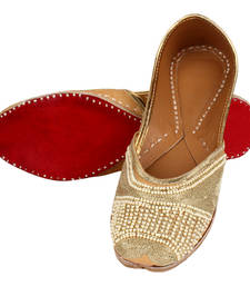Buy Golden leather footwear footwear online