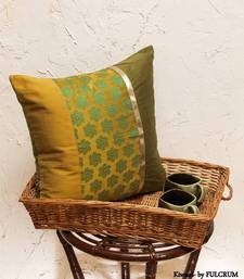 Buy Cushion covers - Green patch  pillow-cover online