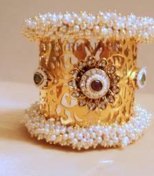 Buy broad polki pearl bracelet  bangles-and-bracelet online