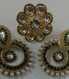 Buy Designer Earing with Finger Ring Ring online