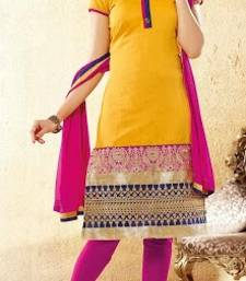 Buy Designer Chanderi Floor Touch Anarkali salwars-and-churidar online