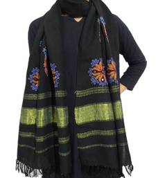 Buy Kutchi Ahir Embroidery Wool Stole stole-and-dupatta online
