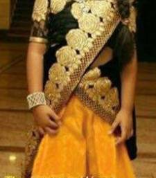 Buy yellow Soft Net kids lehenga choli kids-lehenga-choli online