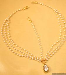 Buy Kundan Pear Shaped Matha patti maang-tikka online