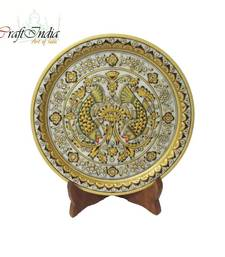 Buy eCraftIndia Fish Printed Marble Plate other-home-accessory online