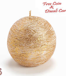 Buy Round ball golden candle candle online