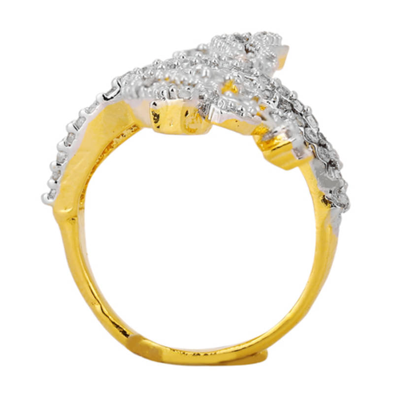 buy gold plated royal ad studded beautiful middle finger