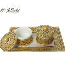 Buy eCraftIndia Floral Decorative Container-Tray tray online