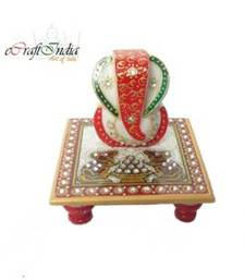 Buy eCraftIndia Lord Ganesha on Chowki with Rats other-home-accessory online