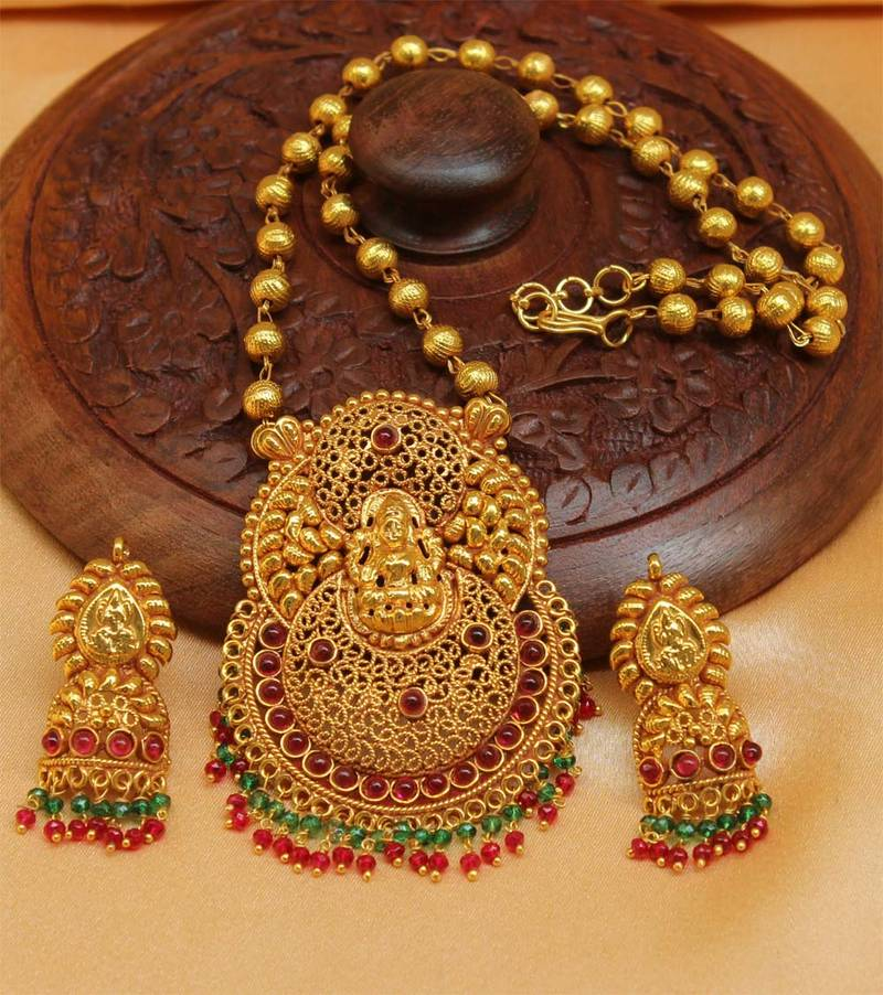 1 Gram Jewellery: Buy Gorgeous Geru Polish One Gram Gold Plated Temple