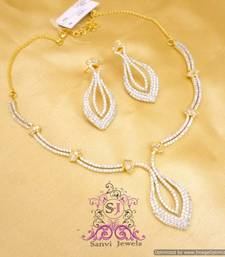 Buy Gorgeous American Diamond Necklace Set Necklace online