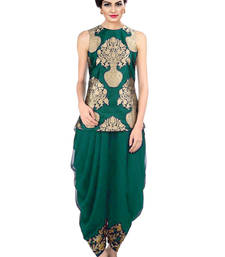 Buy indo western dhoti pant with jacket (Green) indowestern online