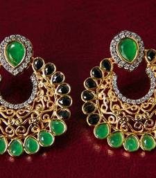 Buy Green & Black Filigree Earrings stud online