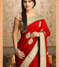 Buy  Gorgeous New Attractive Red Designer Saree designer-embroidered-saree online
