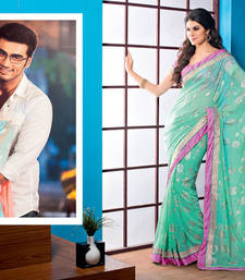 Buy 2 States By Vishal Blue Chiffon Saree  From 2 States Movie 32618 Saree online