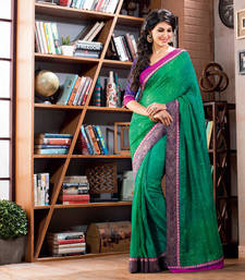 Buy 2 States By Vishal Green Art Silk Saree  From 2 States Movie 32619 Saree online