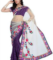 Buy Passionate Purple viscose saree with unstitched blouse (amr1347) viscose-saree online