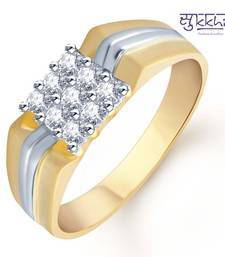 Buy Sukkhi Gold and Rhodium Plated CZ Ring for Men(107GRK480) gifts-for-him online