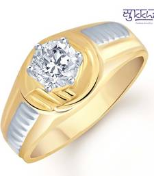 Buy Sukkhi Gold and Rhodium Plated Solitaire CZ Ring for Men(121GRK590) gifts-for-him online