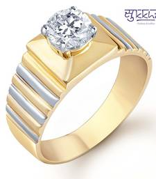 Buy Sukkhi Gold and Rhodium Plated Solitaire CZ Ring for Men(128GRK650) gifts-for-husband online
