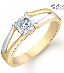 Buy Sukkhi Gold and Rhodium Plated Solitaire CZ Ring for Men(134GRK470) gifts-for-him online
